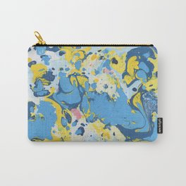 Abstract Blue & Yellow Paint Carry-All Pouch