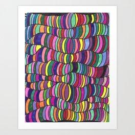 Squiggle Trip Art Print