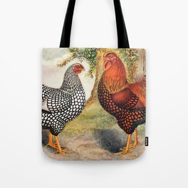 Colorful Chickens | Bunte Hühner Tote Bag