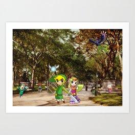 The Legend of Zelda: Central Park Art Print
