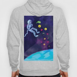 Astronaut in Space On Internet Using Social Media Hoody