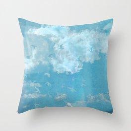 Oiseaux-nuages Vintage Throw Pillow