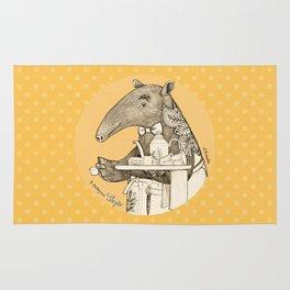 Tea time starts now - Malayan Tapir - Yellow Rug
