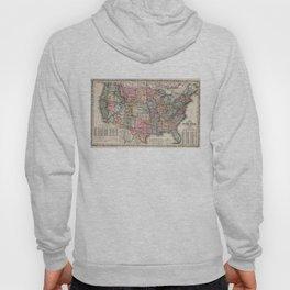 Vintage United States Map (1860) Hoody