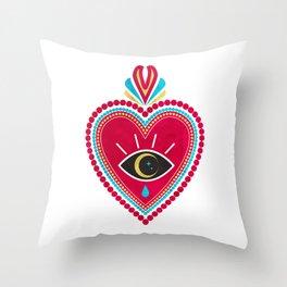 Ex Voto Sacred Heart Throw Pillow