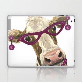 Cute Glasses Cow, Unique Cow Art Laptop & iPad Skin