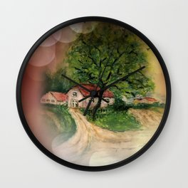 Retro: My little home -2- Wall Clock