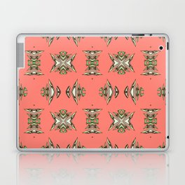Hand Illustrated Aztec NeoTribal Elegant Coral Print Laptop & iPad Skin