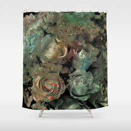 Roses in abstract shapes Shower Curtain