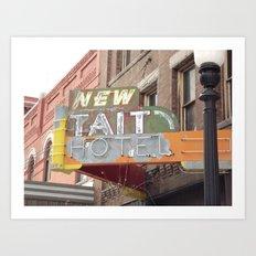New Tait Hotel Art Print