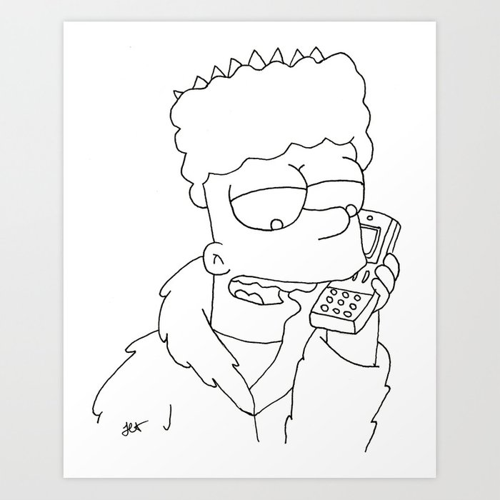 Bart Simpson Gangsta Art Print By Jasminassandri Society6 Explore and share the best gangsta gifs and most popular animated gifs here on giphy. bart simpson gangsta art print by jasminassandri