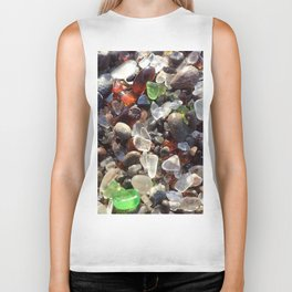 Glass beach California Biker Tank