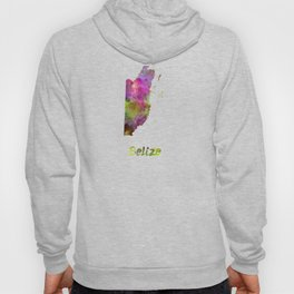 Belize in watercolor Hoody