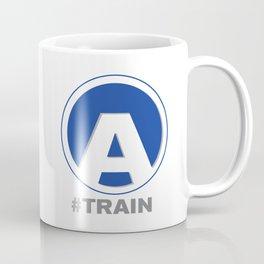 NY MTA Subway A Train Line Coffee Mug