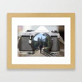 Through the Camera Framed Art Print