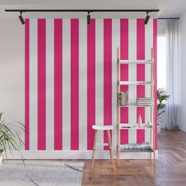 Florida Flamingo Pink Vertical Tent Stripes Florida Colors of the Sunshine State Wall Mural
