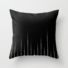 Lines in black Throw Pillow