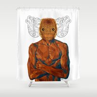 demon Shower Curtains featuring Demon by Rofi