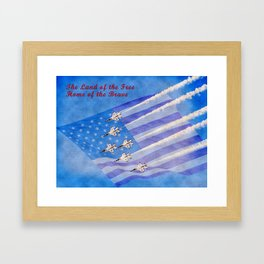 Land of the Free Home of the Brave Framed Art Print