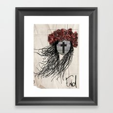 end Framed Art Print