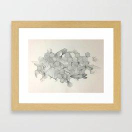 Embrace your randomness Framed Art Print