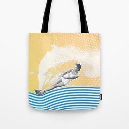 She's Workin' that Rooster Tail Tote Bag