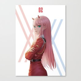 Zero Two Darling in the Franxx Canvas Print