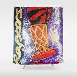 raptors 5,champion,basketball,gold,poster,wall art,2019,winners,NBA,finals,toronto,canada,painting Shower Curtain