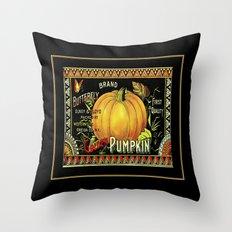 golden Pumpkin Throw Pillow