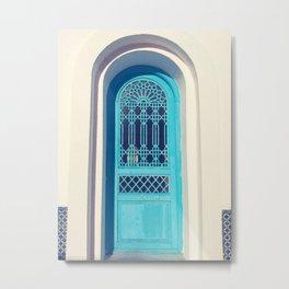 Moroccan Blue Door Metal Print