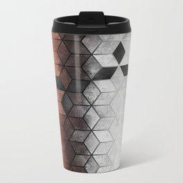 Ombre Concrete Cubes Metal Travel Mug