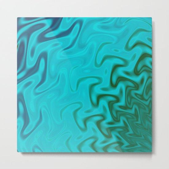 Ripples Fractal in Tropical Seas Metal Print