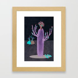 Strong and enduring Cactus lady Framed Art Print