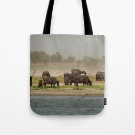 Water Buffalo on the Banks of the Ganges Tote Bag