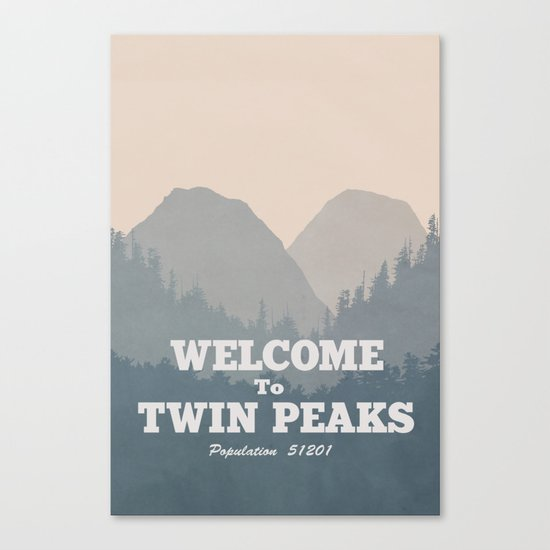 Welcome to Twin Peaks v2 Canvas Print
