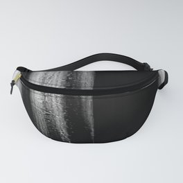 Black And White Bokeh Stripes Brush Strokes - Gothic Glam - Abstract - Corbin Henry Fanny Pack