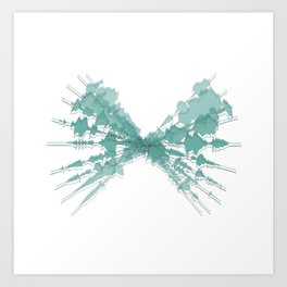 Soundwaves Colour Art Print