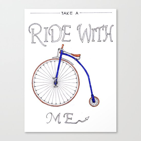 Take A Ride With Me Canvas Print