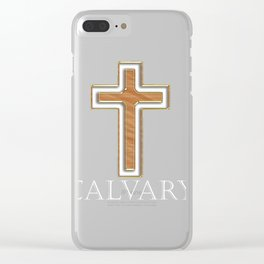 The Calvary Cross Clear iPhone Case