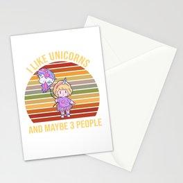 Girls Unicorn Balloon Child Unicorn Stationery Cards