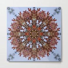 Autumn oak and pine kaleidoscope Metal Print