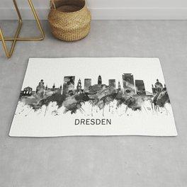 Dresden Germany Skyline BW Rug