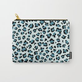 Animal Print, Spotted Leopard - Blue Black Carry-All Pouch