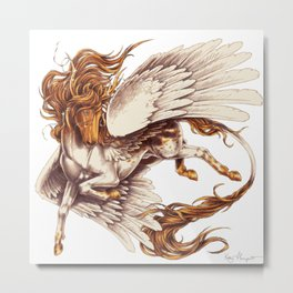 Sundance Pegasus (Painting) Metal Print