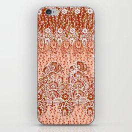 paisley floral in earth iPhone Skin
