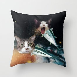 Meowfish Throw Pillow