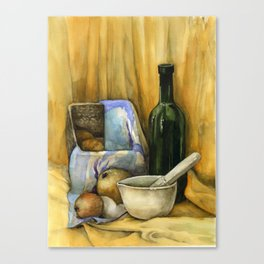 Yellow Still Life Canvas Print
