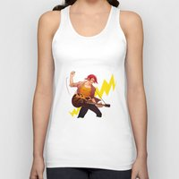 iwatobi Tank Tops featuring Rock shark by Boisson