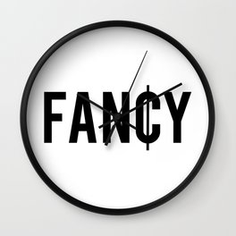 Fancy Cent Symbol Typography Wall Clock