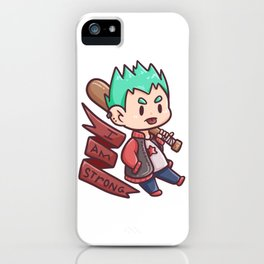 cool strong brave boy Baseball kids gift iPhone Case